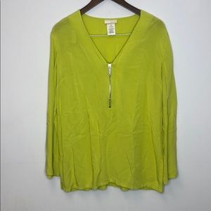 Michael Kors Top Long Sleeve XS Green
